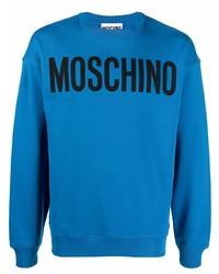 Sudadera estampada azul de Moschino