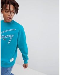 Sudadera estampada azul de Tommy Jeans