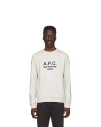 Sudadera estampada blanca de A.P.C.