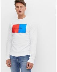 Sudadera estampada blanca de Calvin Klein