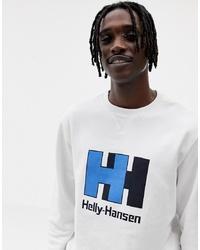 Sudadera estampada blanca de Helly Hansen