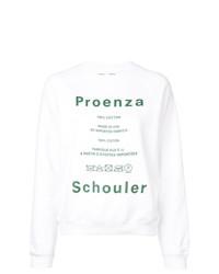 Sudadera estampada blanca de Proenza Schouler