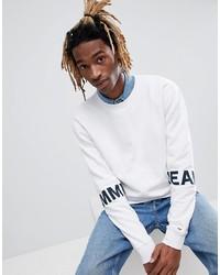 Sudadera estampada blanca de Tommy Jeans