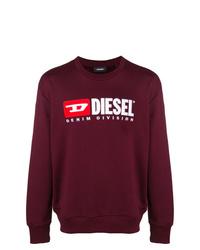 Sudadera estampada burdeos de Diesel
