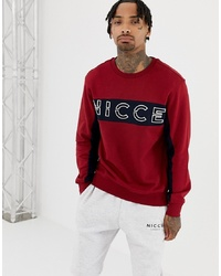 Sudadera estampada burdeos de Nicce London