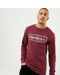Sudadera estampada burdeos de north 56 4