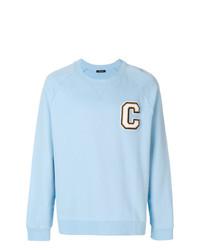 Sudadera estampada celeste de Calvin Klein Jeans
