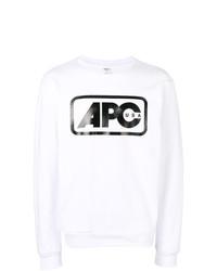 Sudadera estampada en blanco y negro de A.P.C.