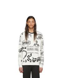 Sudadera estampada en blanco y negro de Givenchy