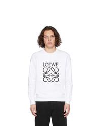 Sudadera estampada en blanco y negro de Loewe