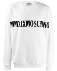 Sudadera estampada en blanco y negro de Moschino