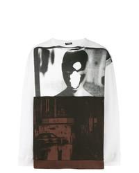 Sudadera estampada en blanco y negro de Raf Simons