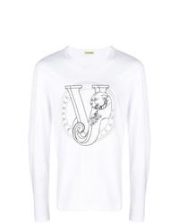 Sudadera estampada en blanco y negro de Versace Jeans