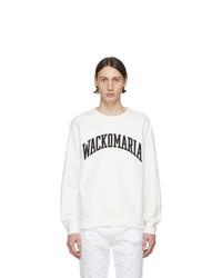 Sudadera estampada en blanco y negro de Wacko Maria