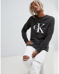 Sudadera estampada en gris oscuro de Calvin Klein Jeans