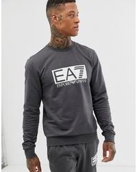 Sudadera estampada en gris oscuro de EA7
