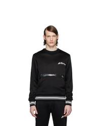 Sudadera estampada en negro y blanco de Alexander McQueen