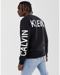 Sudadera estampada en negro y blanco de Calvin Klein Jeans