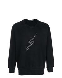 Sudadera estampada en negro y blanco de Givenchy