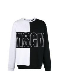 Sudadera estampada en negro y blanco de MSGM