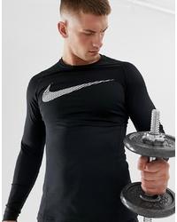 Sudadera estampada en negro y blanco de Nike Training