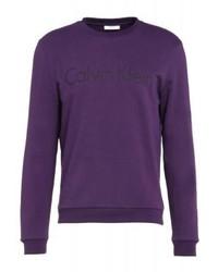 Sudadera estampada en violeta de Calvin Klein