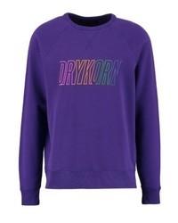 Sudadera estampada en violeta de Drykorn