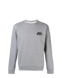 Sudadera estampada gris de A.P.C.