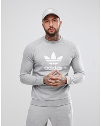 Sudadera estampada gris de adidas Originals