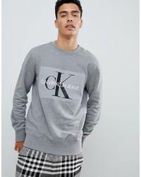 Sudadera estampada gris de Calvin Klein Jeans