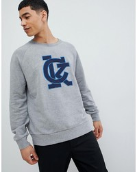 Sudadera estampada gris de Calvin Klein