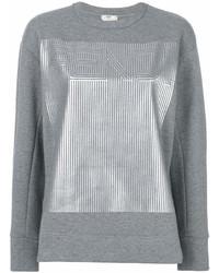 Sudadera estampada gris de Fendi