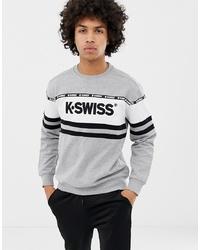 Sudadera estampada gris de K-Swiss