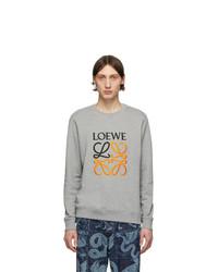 Sudadera estampada gris de Loewe