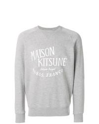 Sudadera estampada gris de MAISON KITSUNÉ
