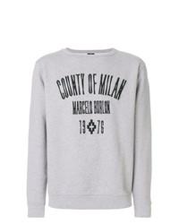 Sudadera estampada gris de Marcelo Burlon County of Milan