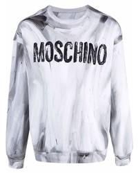 Sudadera estampada gris de Moschino
