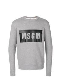 Sudadera estampada gris de MSGM