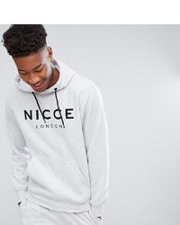 Sudadera estampada gris de Nicce London