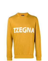 Sudadera estampada mostaza de Z Zegna