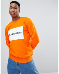 Sudadera estampada naranja de Calvin Klein Jeans