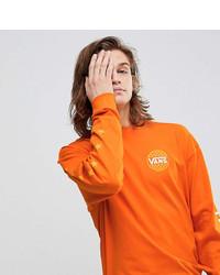 Sudadera estampada naranja de Vans