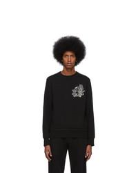 Sudadera estampada negra de Alexander McQueen