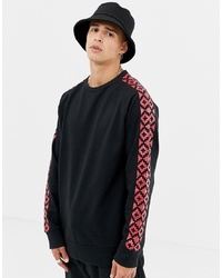 Sudadera estampada negra de Another Influence