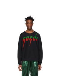 Sudadera estampada negra de Gucci