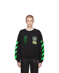 Sudadera estampada negra de Off-White