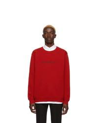 Sudadera estampada roja de Givenchy