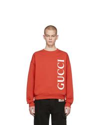 Sudadera estampada roja de Gucci