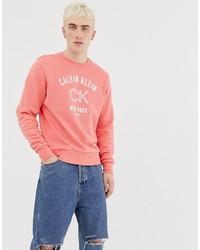 Sudadera estampada rosa de Calvin Klein