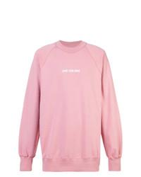 Sudadera estampada rosada de Aimé Leon Dore